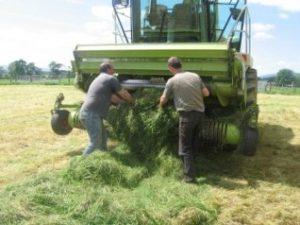 Harvester Blockage